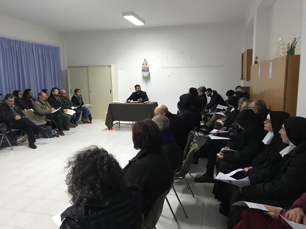 Lectio divina di gennaio della Caritas all'Istituto San Benedetto di Modica