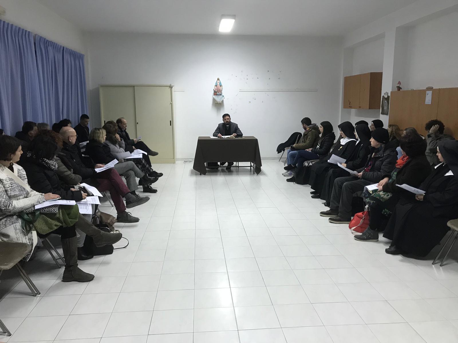 Lectio divina di febbraio all'Istituto San Benedetto di Modica con don Christian Barone