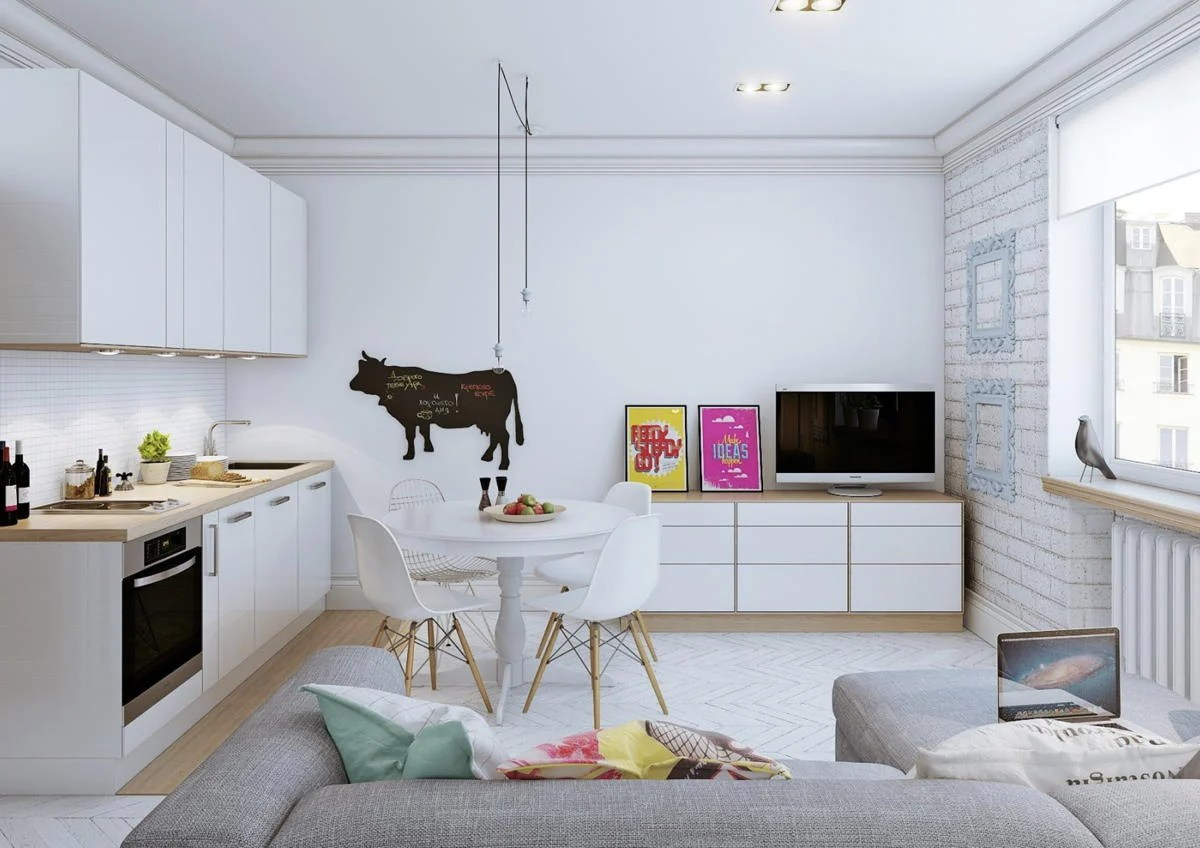 Sempre più apprezzato in termini di progettazione di interni, il soggiorno con cucina a vista permette di vivere pienamente la zona living della casa favorendo comunicazione ed interazione. Cucina Salotto Open Space Piccoli Spazi Foto Idee