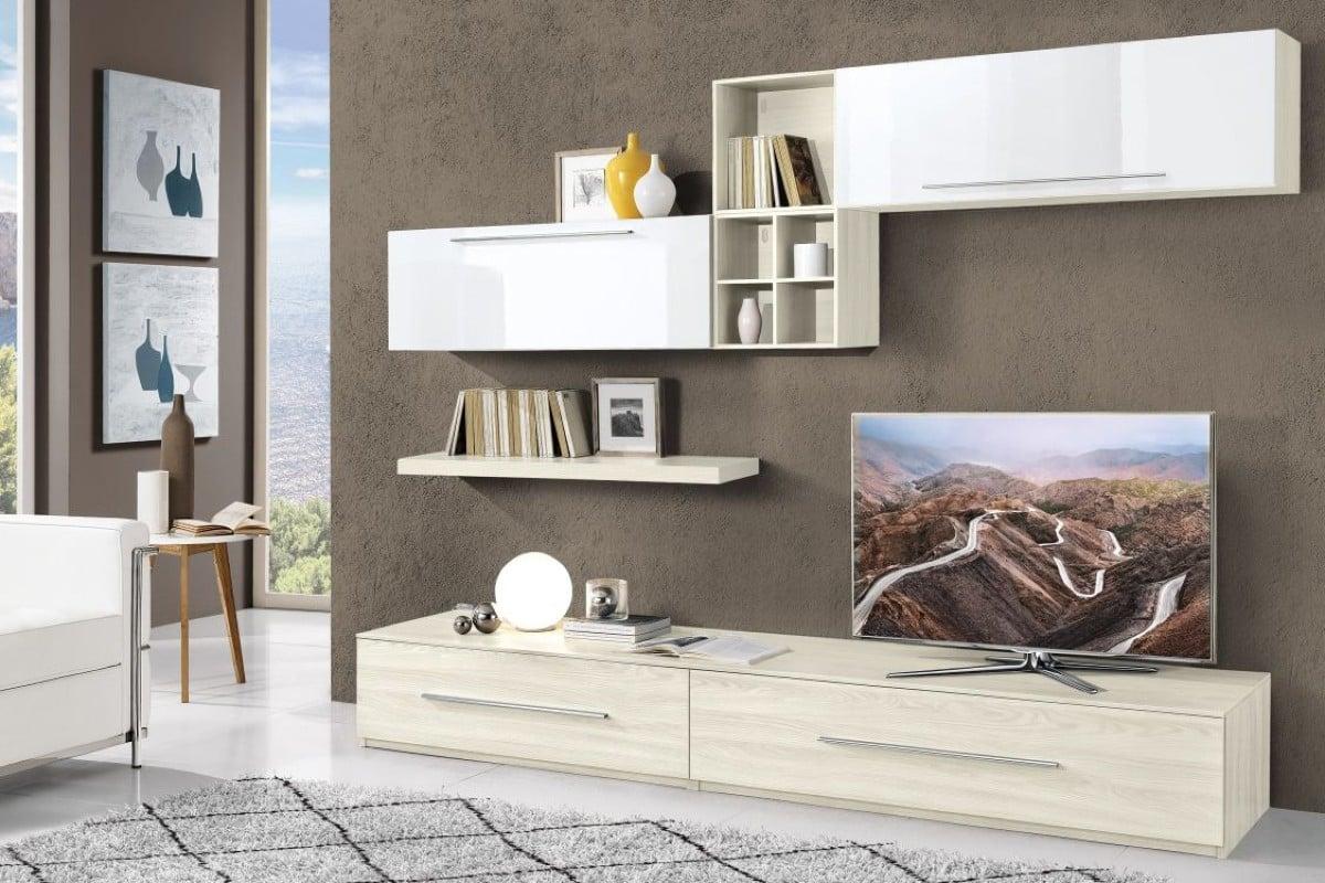 Modus, parete attrezzata sui toni del grigio. Mondo Convenienza Offerte Soggiorni Sconti Agosto 2021