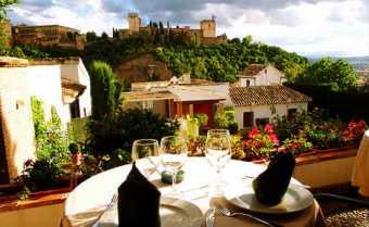 Vistas desde el Restaurante frente a la Alhambra