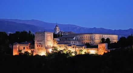 El Patio de los leones en la Alhambra de Granada