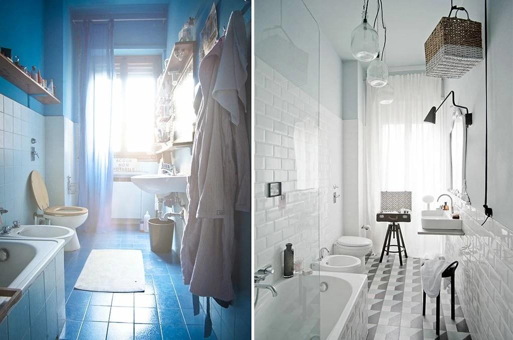 Cerchi idee per l'arredo bagno moderno? Prima Dopo Come Trasformare Un Bagno Datato E Buio Con Stile Casafacile