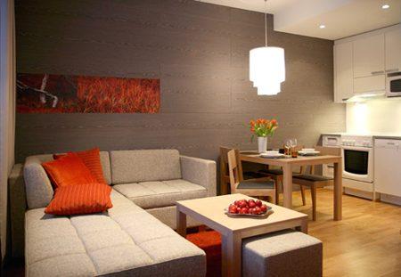 Colori per pareti cucina soggiorno. Imbiancare Cucina Soggiorno Ambiente Unico Con Arredo Moderno