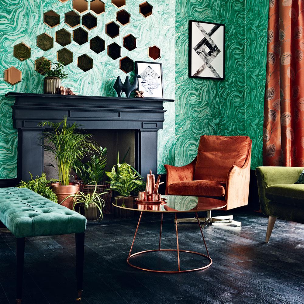 Colore parete verde acqua soggiorno con divano bianco. 14 Consigli E Idee Per Un Soggiorno Decorato Di Verde Ecco Come Ridipingere Con Le Tonalita Piu Armoniose Dell Estate Casa Incantevole