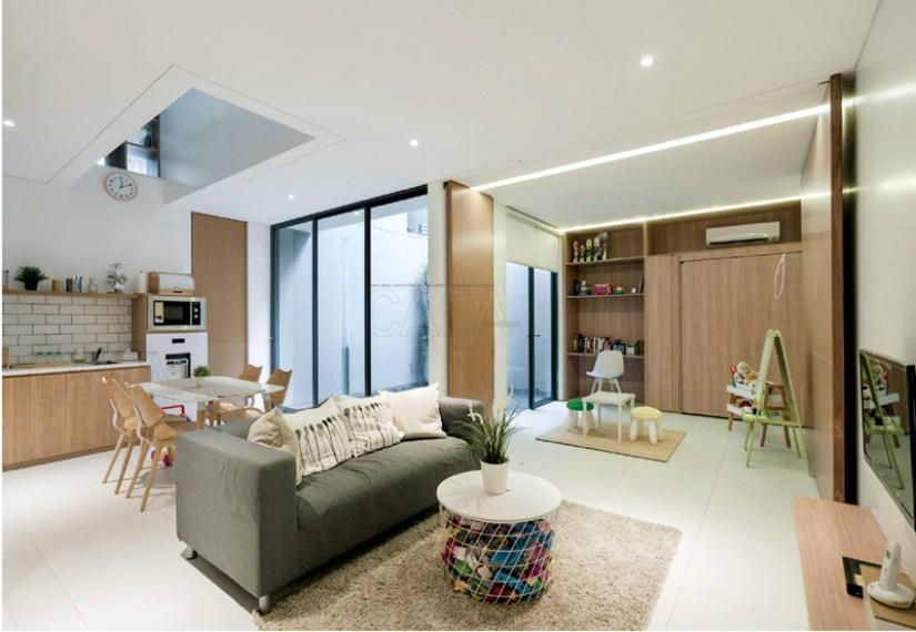 ruang tamu minimalis karya Muhammad Sagitha