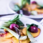 Peach and Plum Fruit Carpaccio