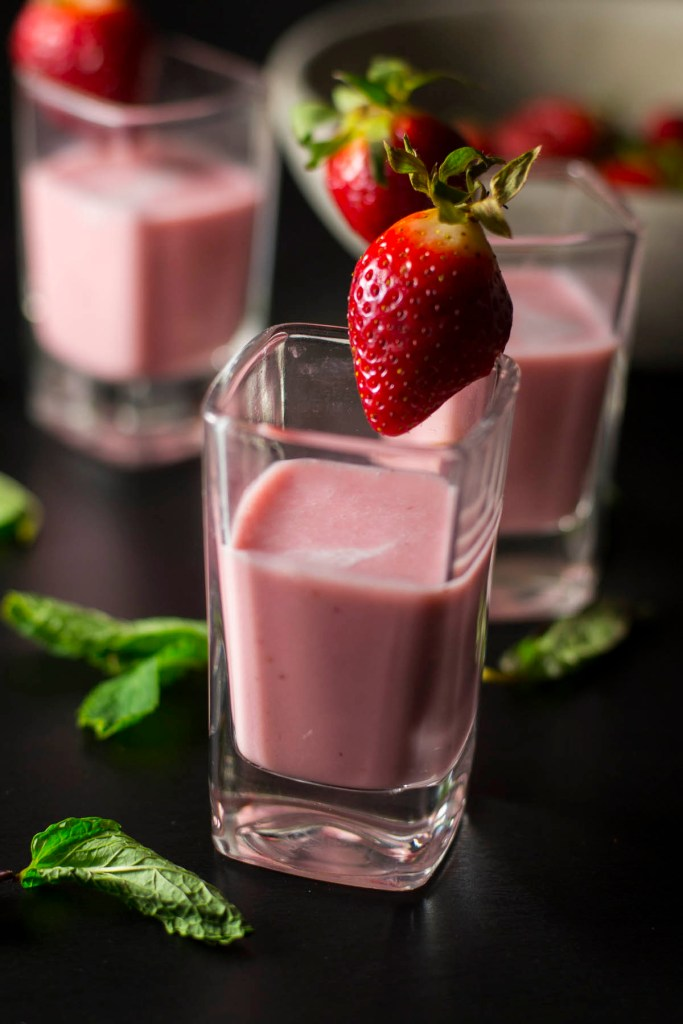 Chilled Strawberry Coconut Soup