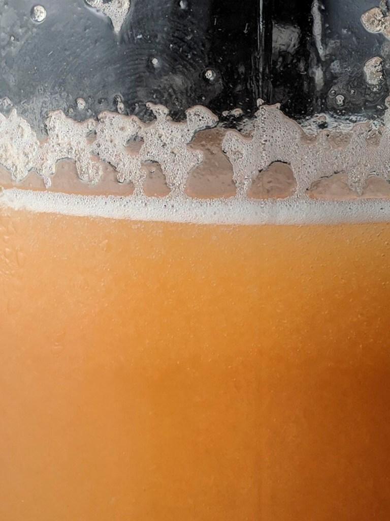 Cantaloupe meloncello closeup stabilized
