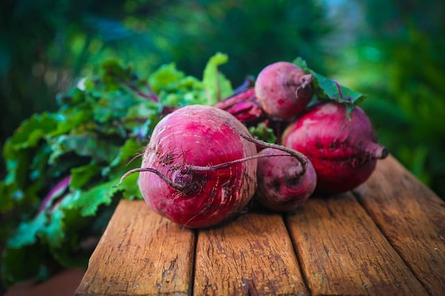 Beets on table