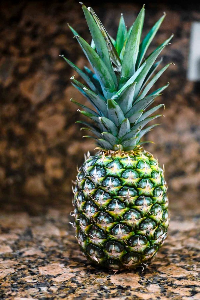 Pineapple on counter