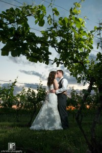 Couple in the vineyard, Wedding Ceremonies and Receptions at Casa Larga Vineyards