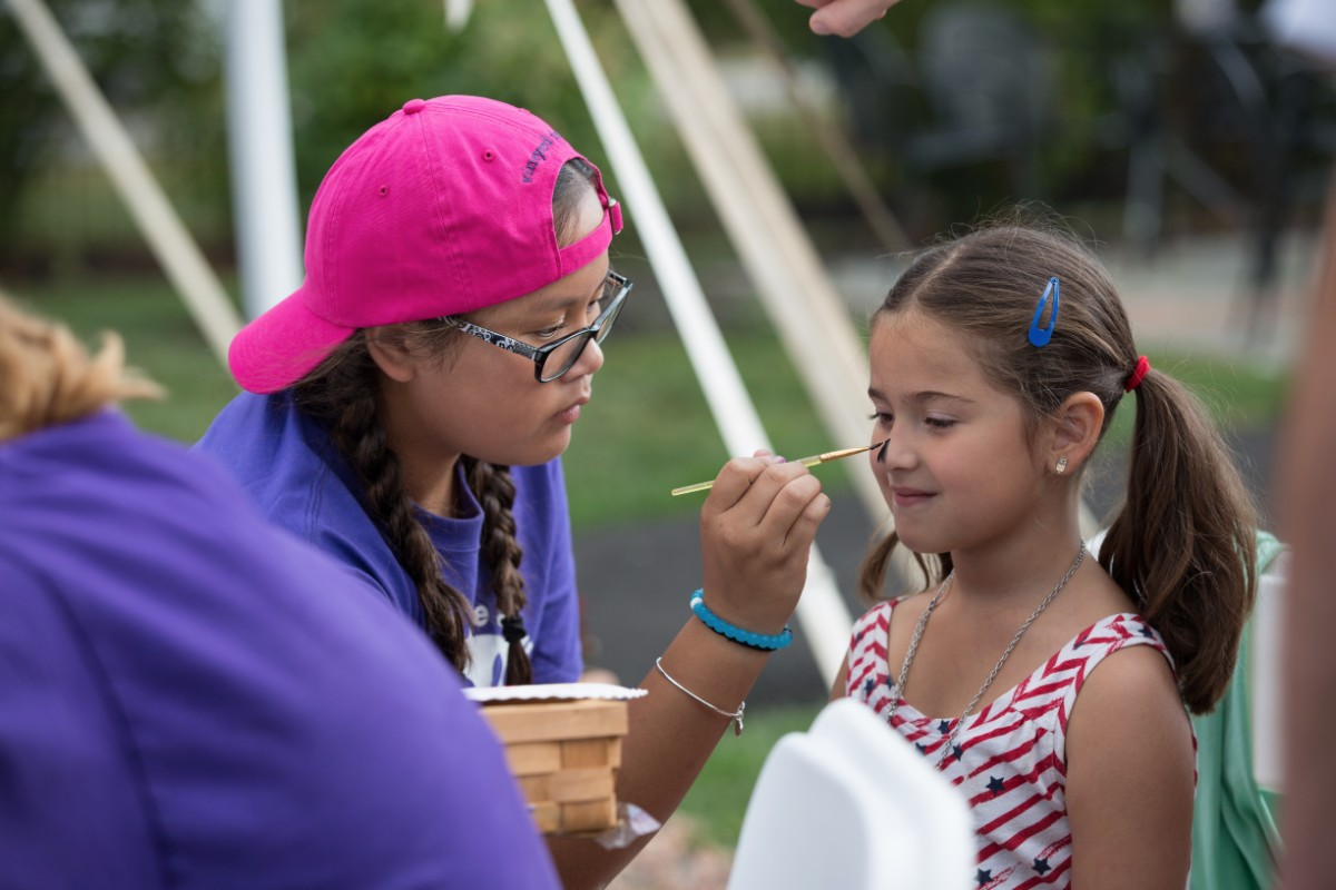 Face Painting, Purple Foot Festival at Casa Larga Vineyards