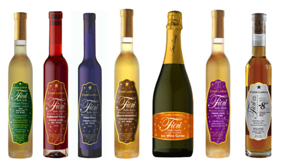 Fiori Ice Wine Line Up, Casa Larga Vineyards