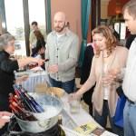 Customers and vendors enjoying The NY Ice Wine and Culinary Festival at Casa Larga Vineyards