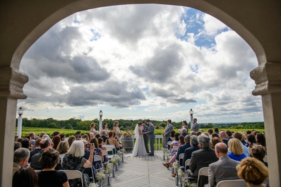Wedding ceremony on the patio, Wedding Ceremonies and Receptions at Casa Larga Vineyards