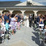 Father and Daughter walking down aisle, Wedding Ceremonies and Receptions at Casa Larga Vineyards
