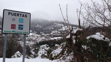 Puertas con nieve