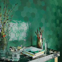 carrelage mural faience zellige hexa hexagone 12 4x10 8cm 10 couleurs