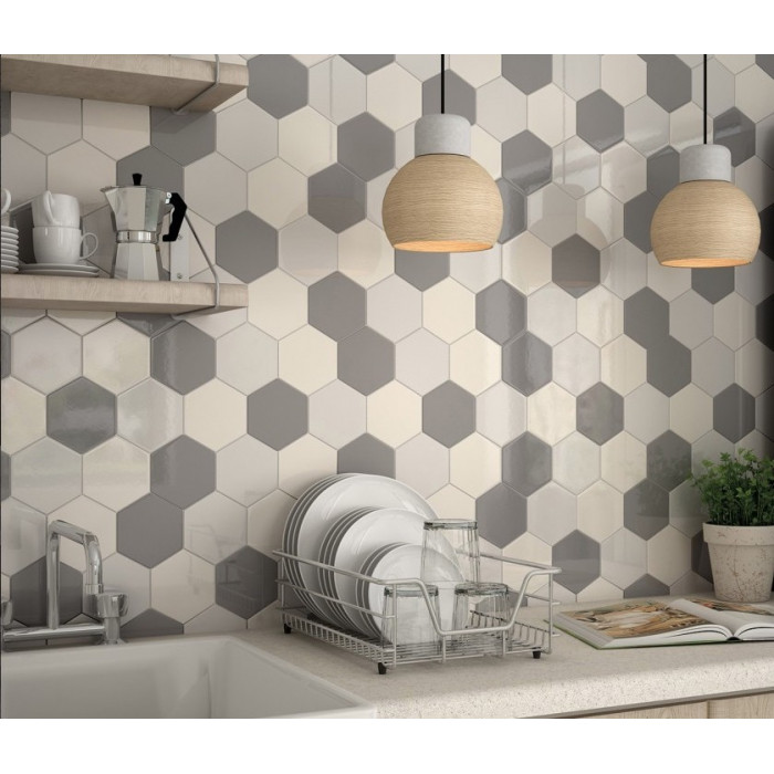carrelage mural faience scale hexagon 10 couleurs hexagone 12 4x10 7cm casalux home design