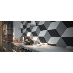 carrelage mural faience chevron 23x5cm 5 couleurs