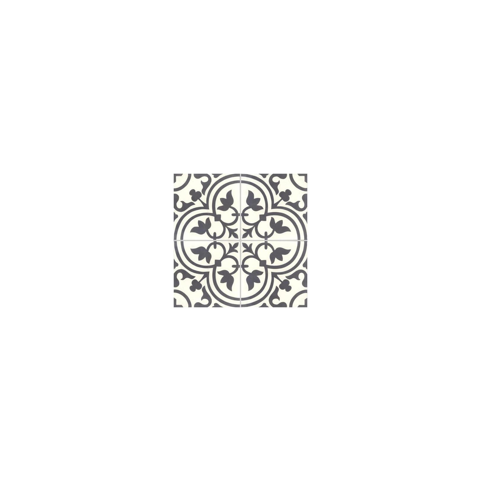 carreau de ciment colore motif 4 carreaux noir et blanc normandie 10 01