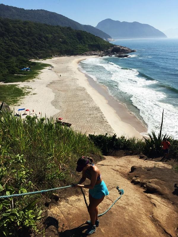 Chegada na Praia do Meio