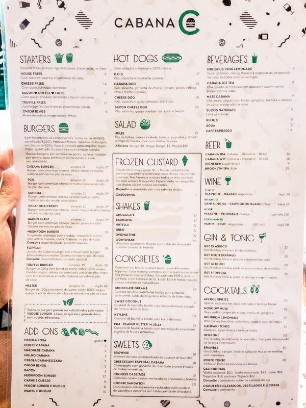 Cabana Burger Rio de Janeiro