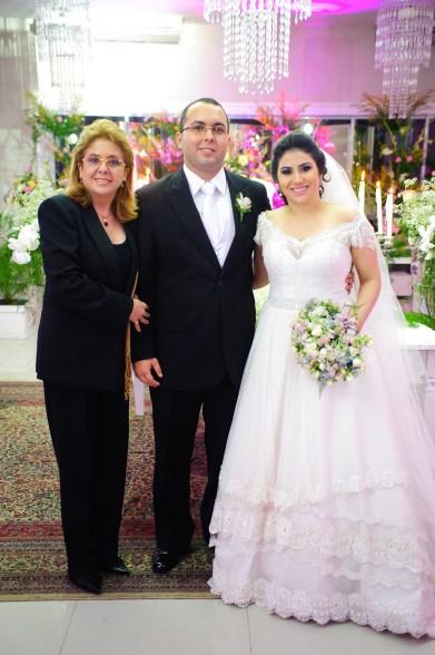 Casamento Natália e Rafael. Blogueiros com a Ana Liady Accioly, nossa cerimonialista. Foto: Samuel Gomes.