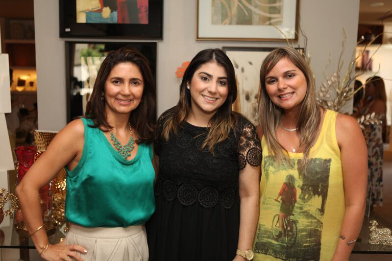 Luciana Cidrão, Natália e Patrícia. Nossas parceiras capricharam em tudo.