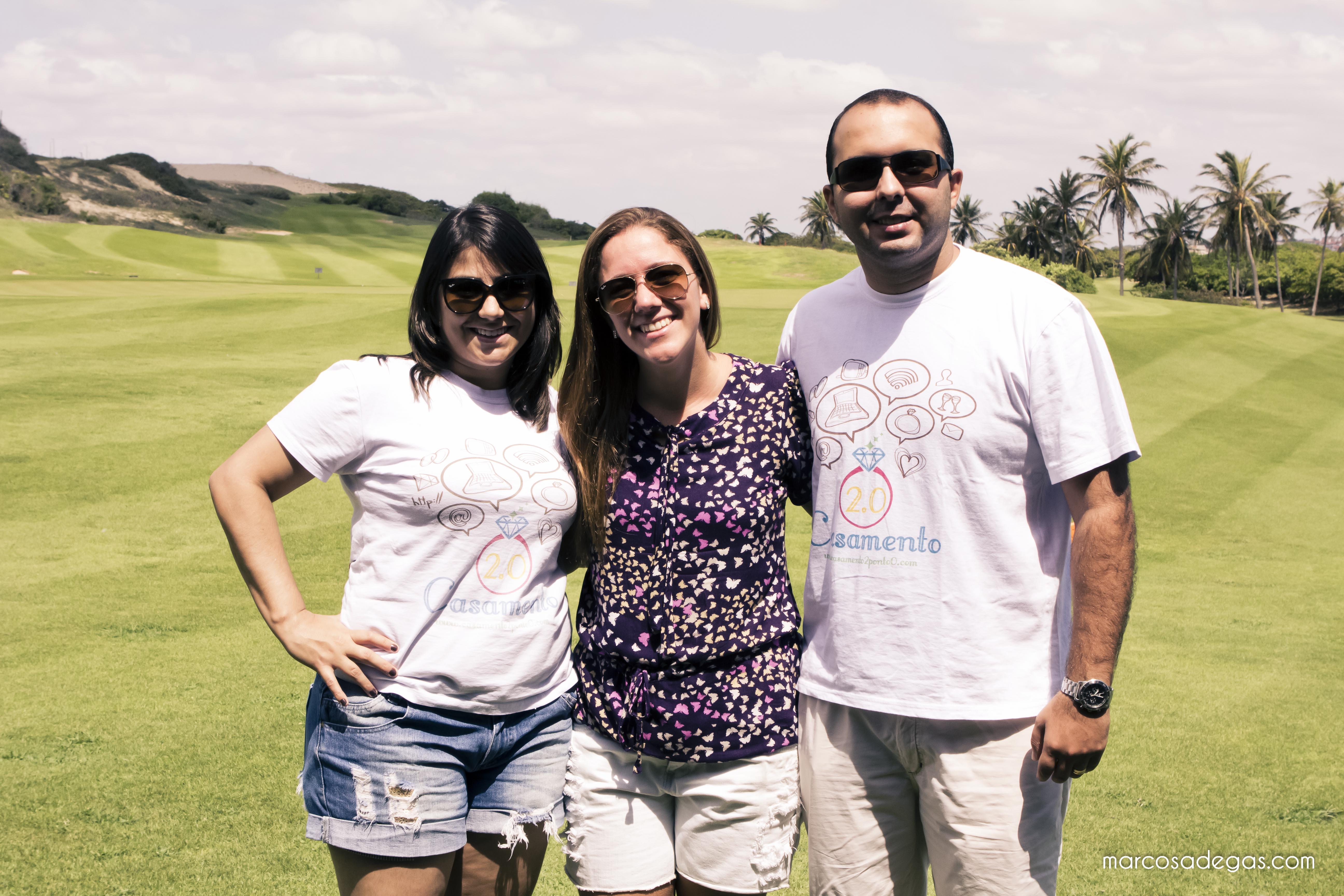 Os blogueiros Natália e Rafael com a Carol Bedê, assessora de imprensa da Mari Mari Guloseimas.