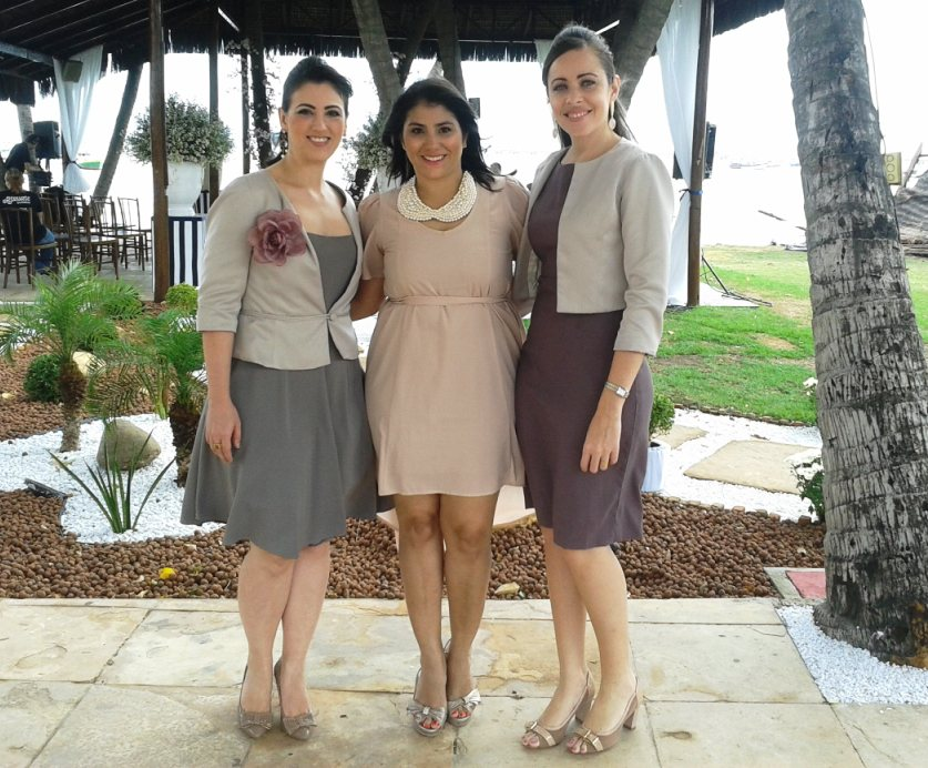 A Blogueira da casa, Natália, com as meninas da Innova.