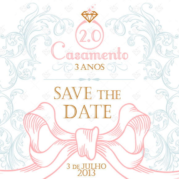 Save the Date criado pela Duo Design.