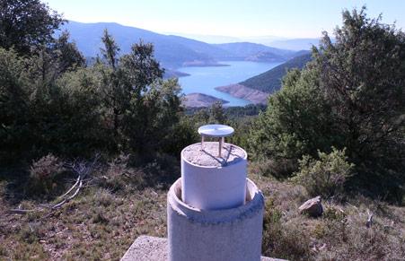Embalse de Itoiz desde la cima de Zaziain