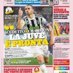 """Prima Pagina GdS: Scudetto & Champions la Juve è pronta"""""""