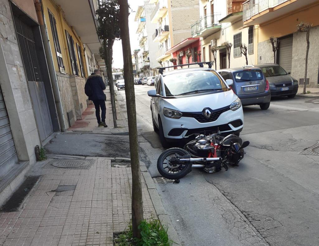 Casoria grave incidente moto