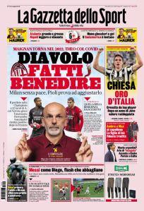 Prima Pagina Gazzetta dello Sport 14 Ottobre