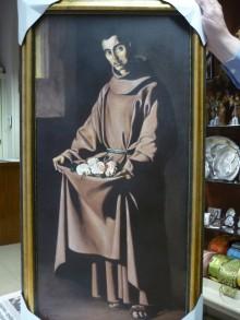 SAN PEDRO DE ALCANTARA CUADRO PINTADO AL OLEO PARA LOS RELIGIOSOS FRANCISCANOS