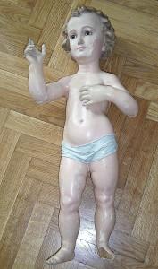 Niño Jesus de madera antes