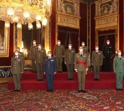 Audiencia de Su Majestad el Rey con un grupo de Coroneles, tras haber sido designados para asumir el mando de distintas unidades militares