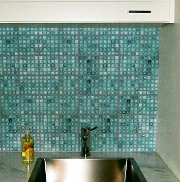 faux glass mosaic tile architectural