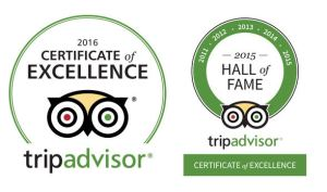 TRIPADVISOR CERTIFICATE OF EXCELLENCE Winner Six Years Running