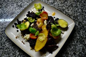 Andean Root Vegetables, Wild Rice, Blue Cheese, Smoked Venison