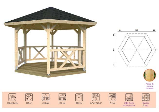 pabellon de madera