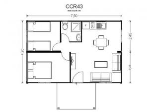 Plano de casas baratas precio CCR43 de Casas Carbonell