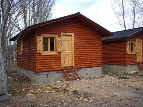 casa de madera prefabricada bungalow 26