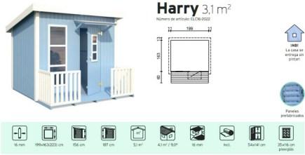 casita infantil de jardin harry