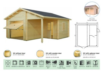 garaje en madera maciza garage 4 de Casas Carbonell