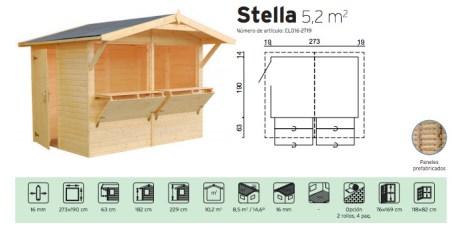quiosco prefabricado de madera stella Casas carbonell
