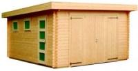garaje de madera novel